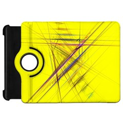 Fractal Color Parallel Lines On Gold Background Kindle Fire HD 7  by Nexatart