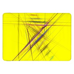 Fractal Color Parallel Lines On Gold Background Samsung Galaxy Tab 8 9  P7300 Flip Case by Nexatart
