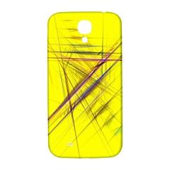 Fractal Color Parallel Lines On Gold Background Samsung Galaxy S4 I9500/i9505  Hardshell Back Case