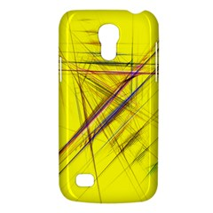 Fractal Color Parallel Lines On Gold Background Galaxy S4 Mini