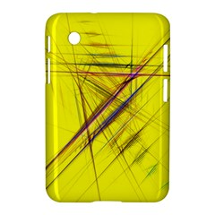 Fractal Color Parallel Lines On Gold Background Samsung Galaxy Tab 2 (7 ) P3100 Hardshell Case