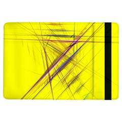 Fractal Color Parallel Lines On Gold Background Ipad Air Flip by Nexatart