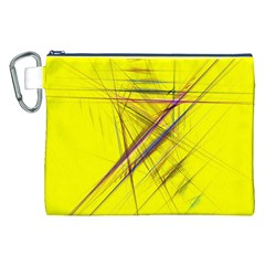 Fractal Color Parallel Lines On Gold Background Canvas Cosmetic Bag (xxl) by Nexatart