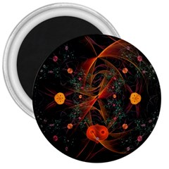 Fractal Wallpaper With Dancing Planets On Black Background 3  Magnets by Nexatart