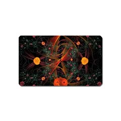 Fractal Wallpaper With Dancing Planets On Black Background Magnet (name Card) by Nexatart