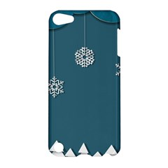 Blue Snowflakes Christmas Trees Apple Ipod Touch 5 Hardshell Case by Mariart