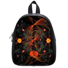 Fractal Wallpaper With Dancing Planets On Black Background School Bags (small)  by Nexatart