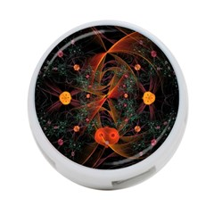 Fractal Wallpaper With Dancing Planets On Black Background 4 Port Usb Hub (two Sides)  by Nexatart