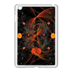 Fractal Wallpaper With Dancing Planets On Black Background Apple Ipad Mini Case (white)