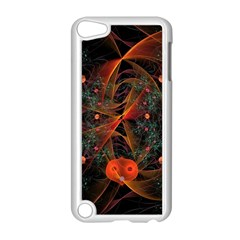 Fractal Wallpaper With Dancing Planets On Black Background Apple Ipod Touch 5 Case (white) by Nexatart