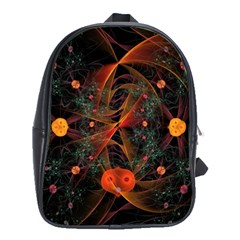 Fractal Wallpaper With Dancing Planets On Black Background School Bags (xl)  by Nexatart