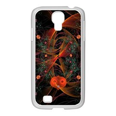Fractal Wallpaper With Dancing Planets On Black Background Samsung Galaxy S4 I9500/ I9505 Case (white) by Nexatart