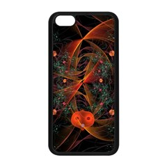 Fractal Wallpaper With Dancing Planets On Black Background Apple Iphone 5c Seamless Case (black) by Nexatart