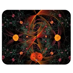 Fractal Wallpaper With Dancing Planets On Black Background Double Sided Flano Blanket (medium)  by Nexatart