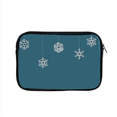 Blue Snowflakes Christmas Trees Apple Macbook Pro 15  Zipper Case by Mariart