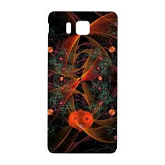 Fractal Wallpaper With Dancing Planets On Black Background Samsung Galaxy Alpha Hardshell Back Case by Nexatart