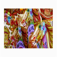 3 Carousel Ride Horses Small Glasses Cloth (2 Side) by Nexatart