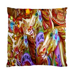 3 Carousel Ride Horses Standard Cushion Case (one Side) by Nexatart