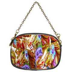 3 Carousel Ride Horses Chain Purses (two Sides)