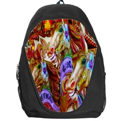 3 Carousel Ride Horses Backpack Bag