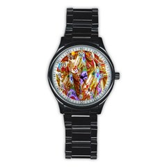 3 Carousel Ride Horses Stainless Steel Round Watch by Nexatart