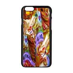 3 Carousel Ride Horses Apple Iphone 6/6s Black Enamel Case