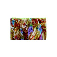 3 Carousel Ride Horses Cosmetic Bag (xs) by Nexatart