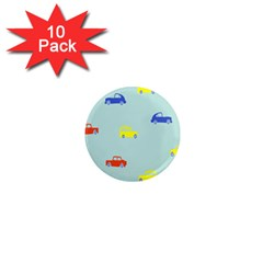 Car Yellow Blue Orange 1  Mini Magnet (10 pack)  by Mariart