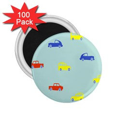 Car Yellow Blue Orange 2 25  Magnets (100 Pack)  by Mariart
