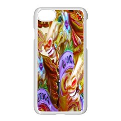 3 Carousel Ride Horses Apple Iphone 7 Seamless Case (white)