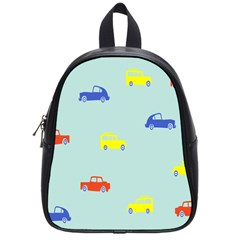 Car Yellow Blue Orange School Bags (small)  by Mariart