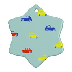 Car Yellow Blue Orange Ornament (snowflake) by Mariart