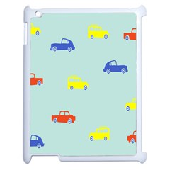 Car Yellow Blue Orange Apple Ipad 2 Case (white) by Mariart