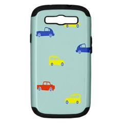 Car Yellow Blue Orange Samsung Galaxy S Iii Hardshell Case (pc+silicone) by Mariart