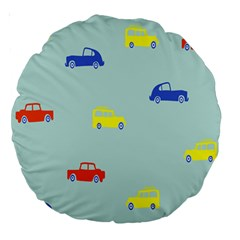 Car Yellow Blue Orange Large 18  Premium Round Cushions by Mariart