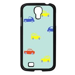 Car Yellow Blue Orange Samsung Galaxy S4 I9500/ I9505 Case (black) by Mariart