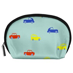 Car Yellow Blue Orange Accessory Pouches (large)  by Mariart