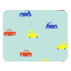 Car Yellow Blue Orange Double Sided Flano Blanket (large)  by Mariart