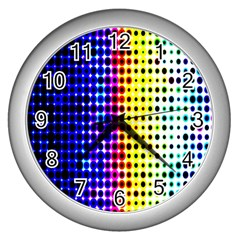 A Creative Colorful Background Wall Clocks (silver)  by Nexatart