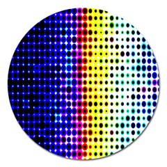 A Creative Colorful Background Magnet 5  (round)