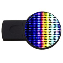 A Creative Colorful Background Usb Flash Drive Round (2 Gb) by Nexatart