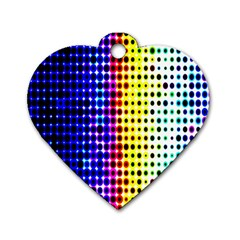 A Creative Colorful Background Dog Tag Heart (two Sides) by Nexatart