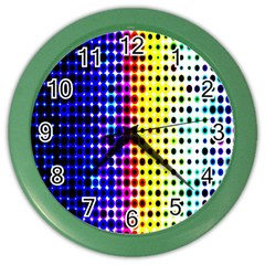 A Creative Colorful Background Color Wall Clocks by Nexatart