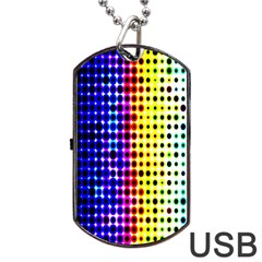 A Creative Colorful Background Dog Tag Usb Flash (one Side)