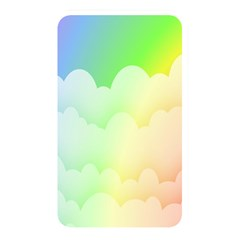 Cloud Blue Sky Rainbow Pink Yellow Green Red White Wave Memory Card Reader by Mariart