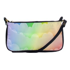 Cloud Blue Sky Rainbow Pink Yellow Green Red White Wave Shoulder Clutch Bags