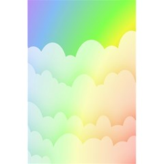 Cloud Blue Sky Rainbow Pink Yellow Green Red White Wave 5 5  X 8 5  Notebooks by Mariart