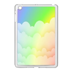 Cloud Blue Sky Rainbow Pink Yellow Green Red White Wave Apple Ipad Mini Case (white) by Mariart
