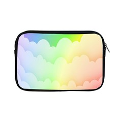 Cloud Blue Sky Rainbow Pink Yellow Green Red White Wave Apple Ipad Mini Zipper Cases by Mariart