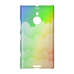 Cloud Blue Sky Rainbow Pink Yellow Green Red White Wave Nokia Lumia 1520 by Mariart